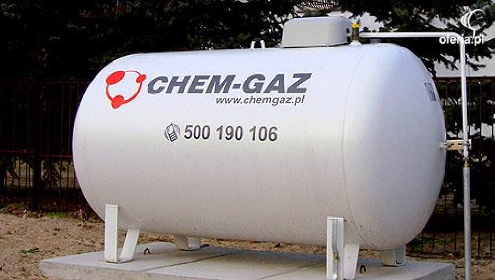 Tylko na zewnątrz ZBIORNIK NA GAZ 2700l, BUTLA NA GAZ PROPAN,LPG - CHEM-GAZ Sp. z BF56