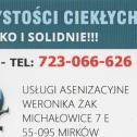 Usługi asenizacyjne Weronika Żak Michałowice i okolice