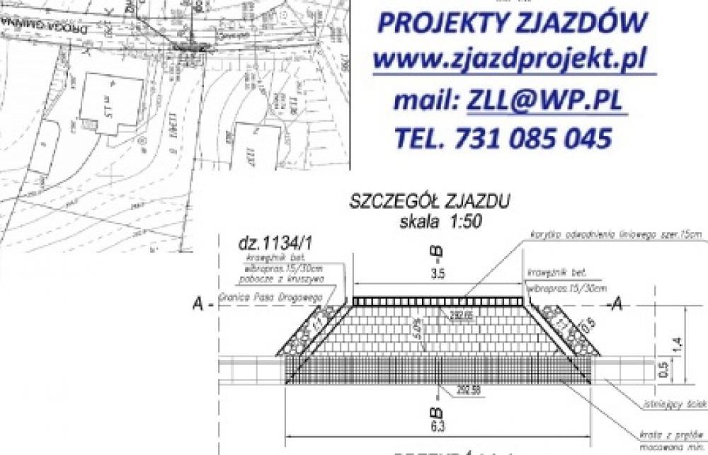 Góra Projekt zjazdu, wjazdu, parkingu, chodnika • Oferia.pl @CX-95
