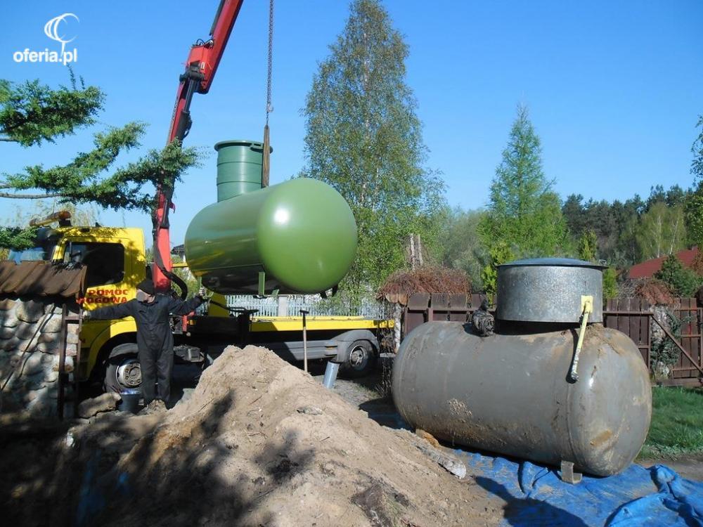 podłączenie zbiornika propanu do domu