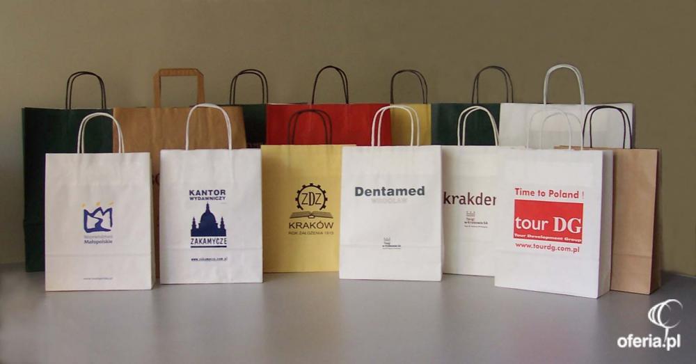 afc75cc52c38b Torby papierowe z nadrukiem, nadruk, torby reklamowe - Omega Biuro ...